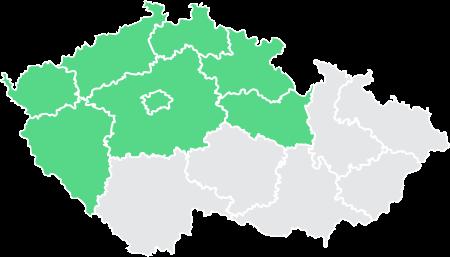 mapa zastoupení ArchEnergy